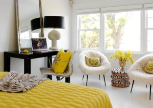 Decorate with acent chairs
