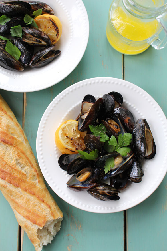 Grilled-mussels