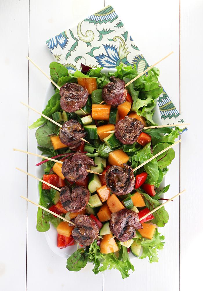 Steak with Cantaloupe Salad