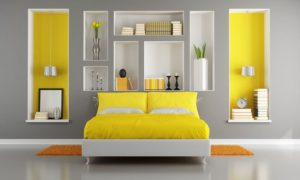 frame your bed with cubbies