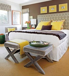 Colured Bed Linens in the Bedroom