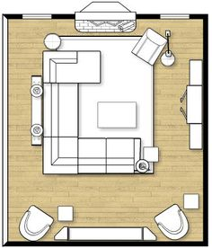 Living Room Layout with Sectional