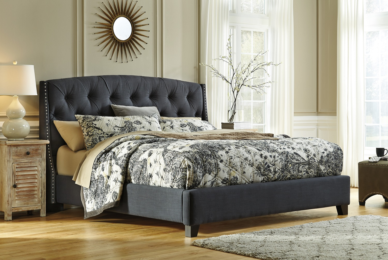 Ashley B600 Upholstered Bed