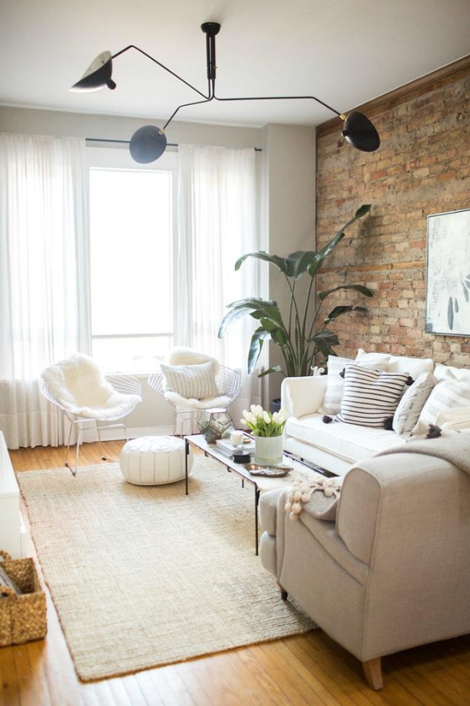 Peaceful Minimalist Living Room in Neutral Tones