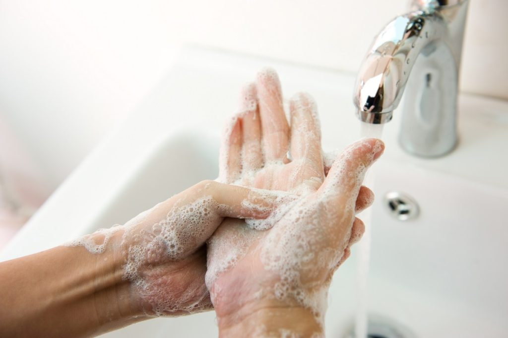 Washing your hands when you have a cold