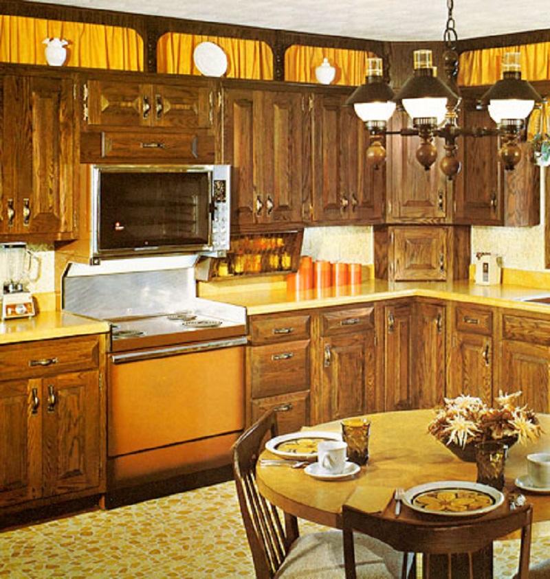 60s Orange Kitchen