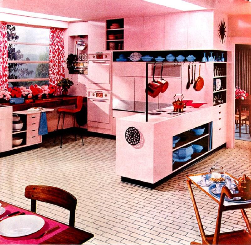 50s Pink Kitchen