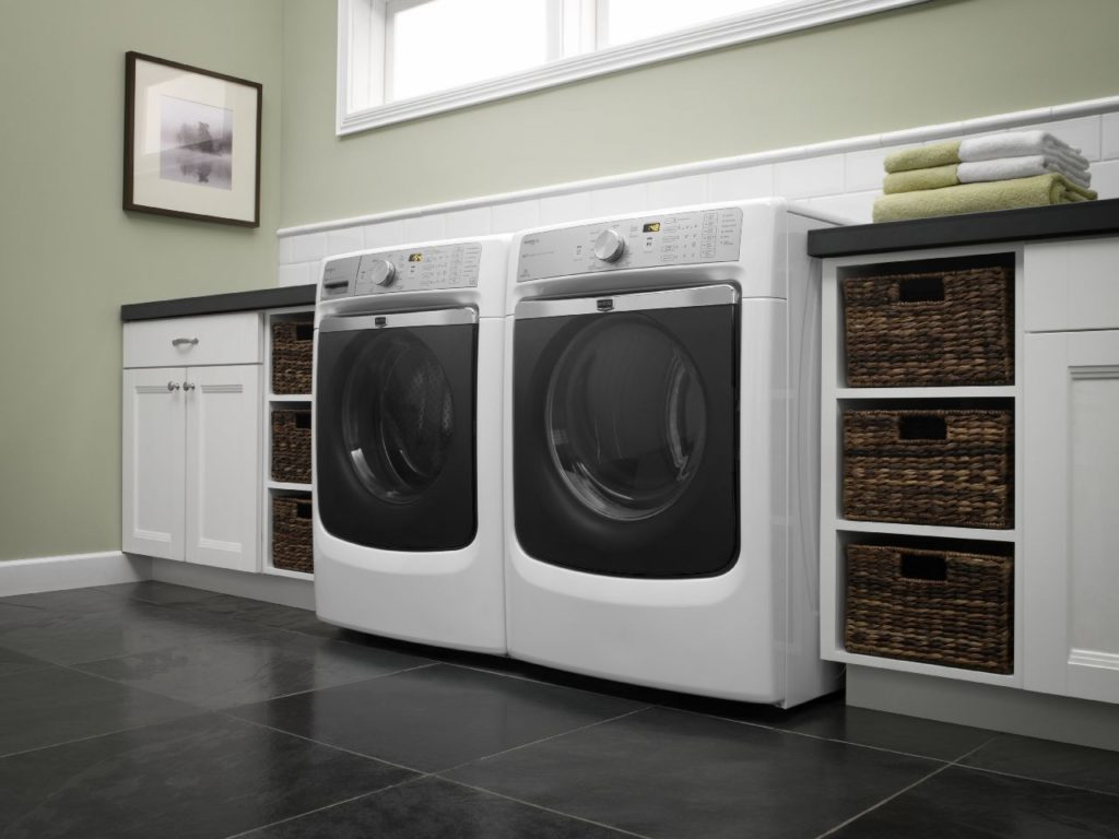 Laundry with Storage Bins