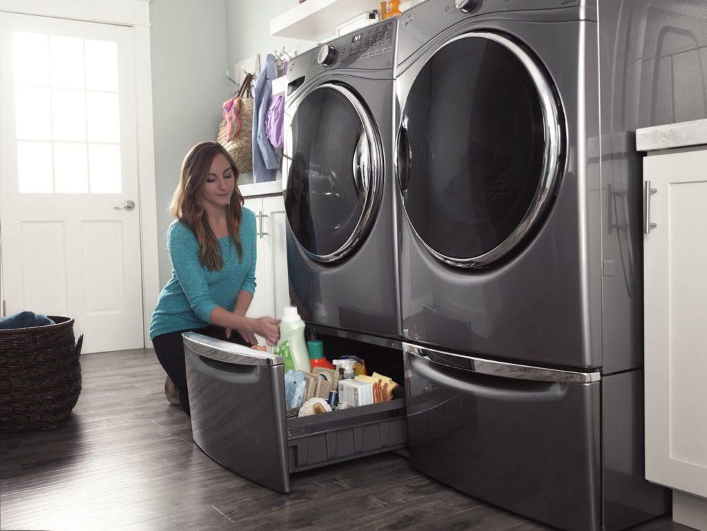 Storage Pedestals for Laundry pair