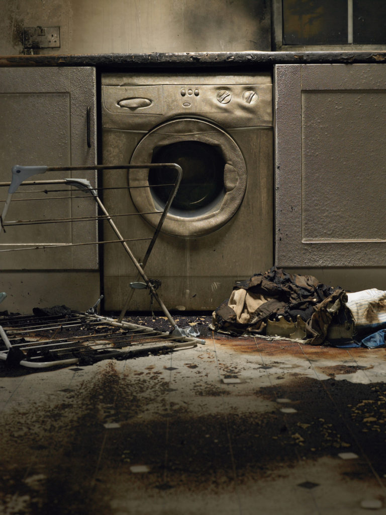 Don't put flammable stains in your laundry machine