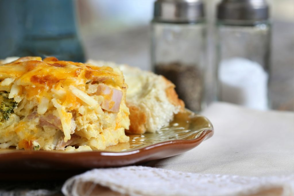 Breakfast pie with eggs and sweet potatoes!