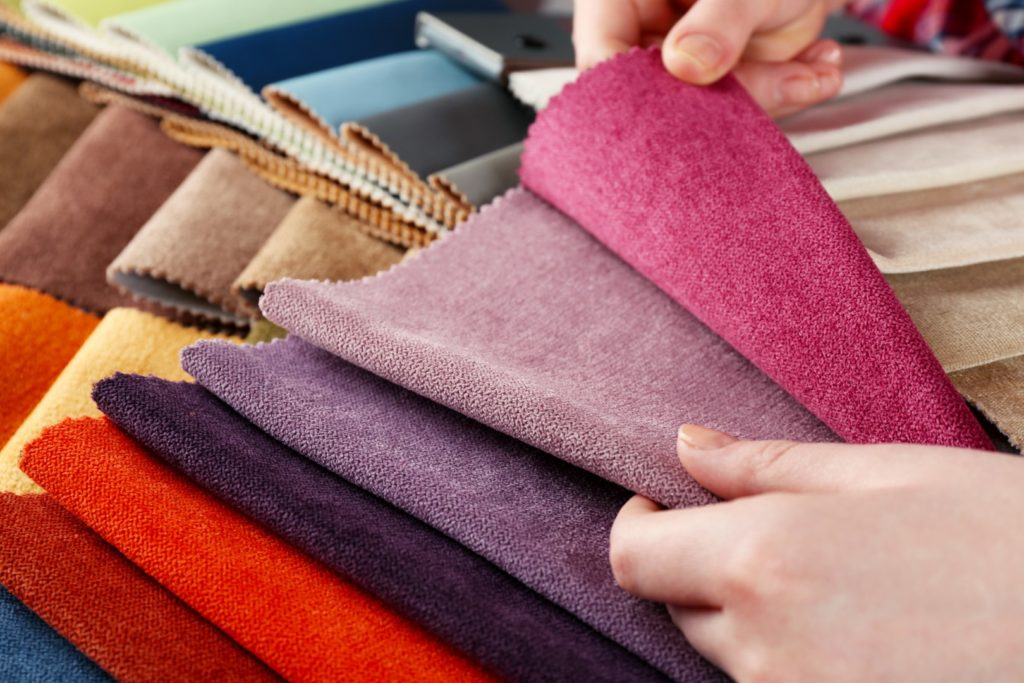 Choices of colours in fabrics