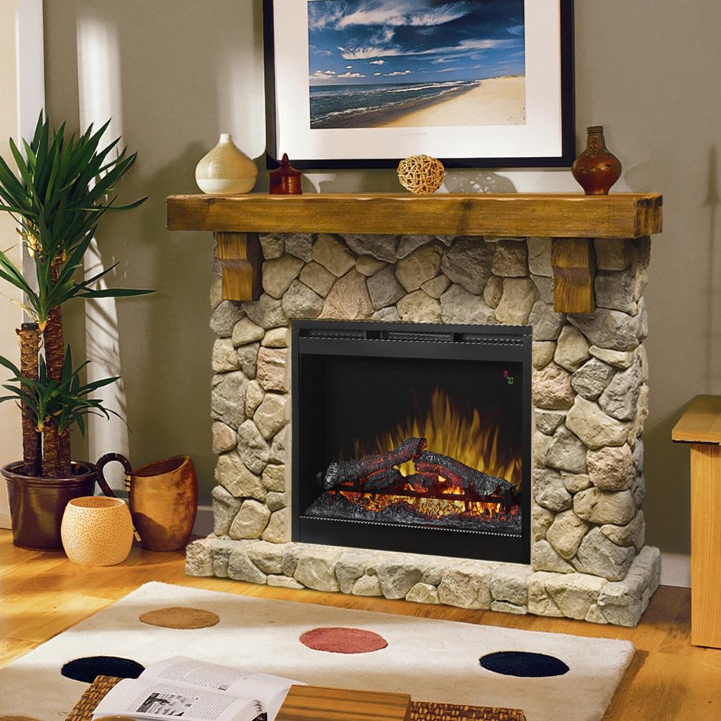 Dimplex Fieldstone Electric Fireplace_GDS26L5_90ST