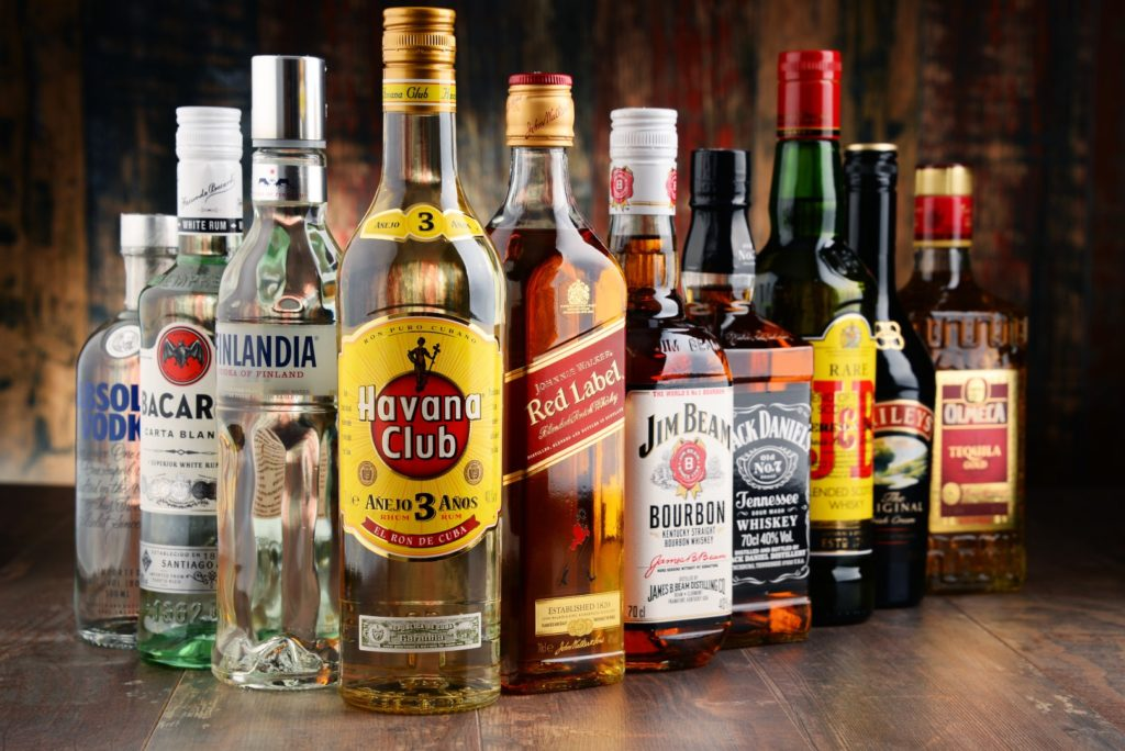 Home Bar Basic Alcohols