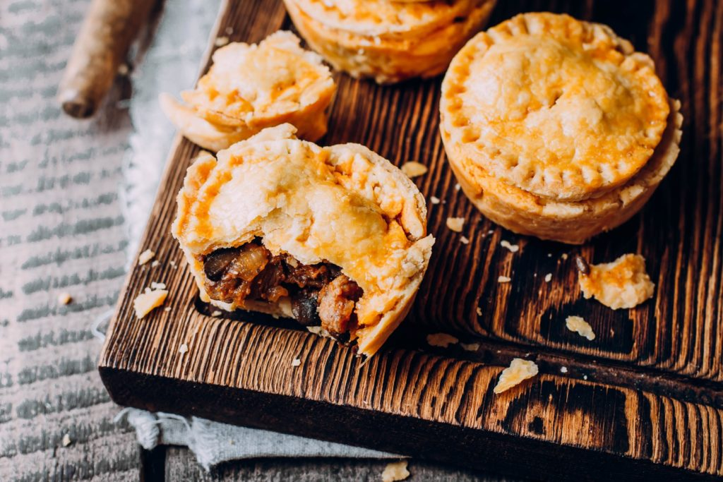 Store-bought meat pie