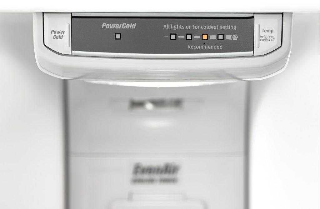 Fonction PowerCold de frigo Maytag