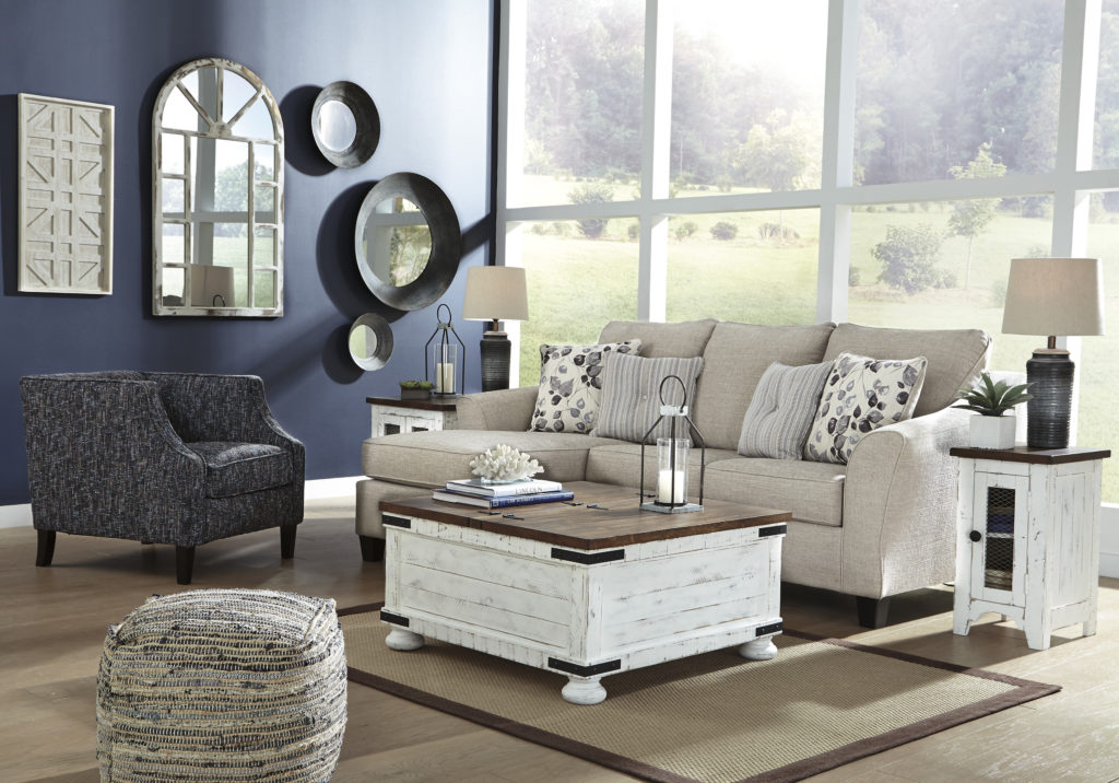 Mix and match fuirniture in living room