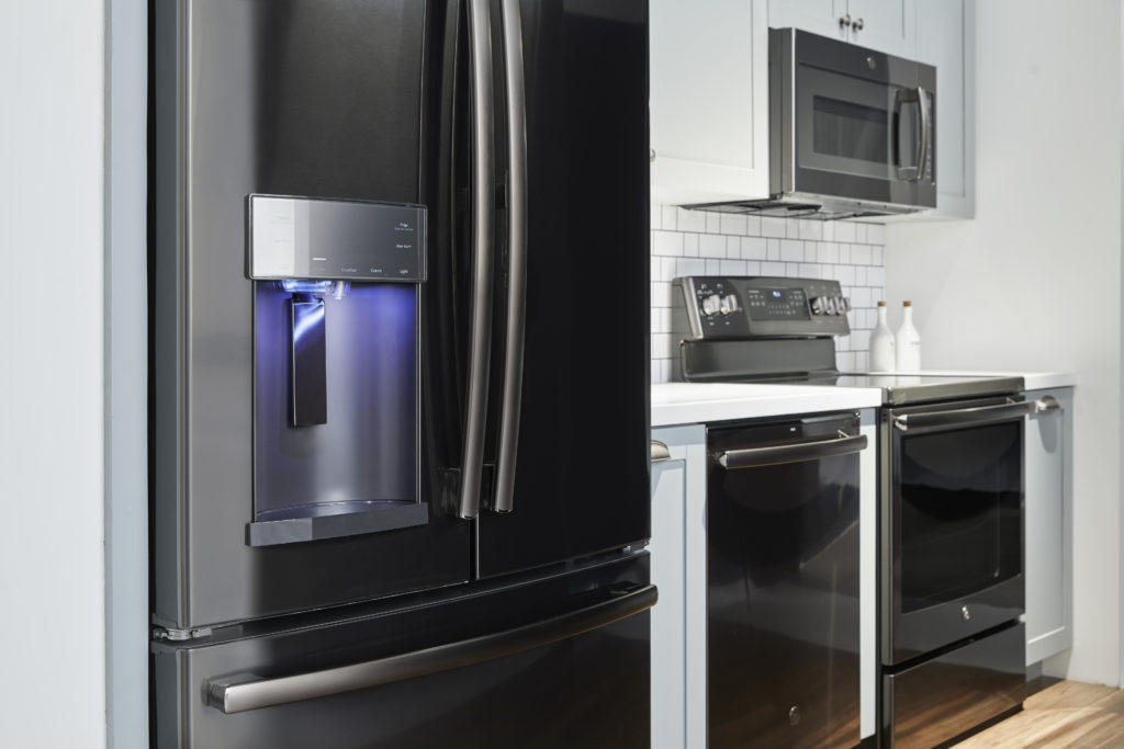 GE Profile Black Stainless Steel Finish