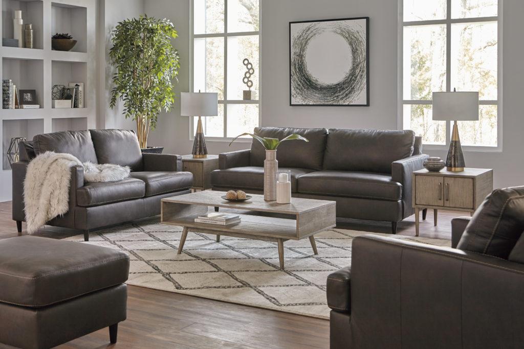Accessorized living room decor