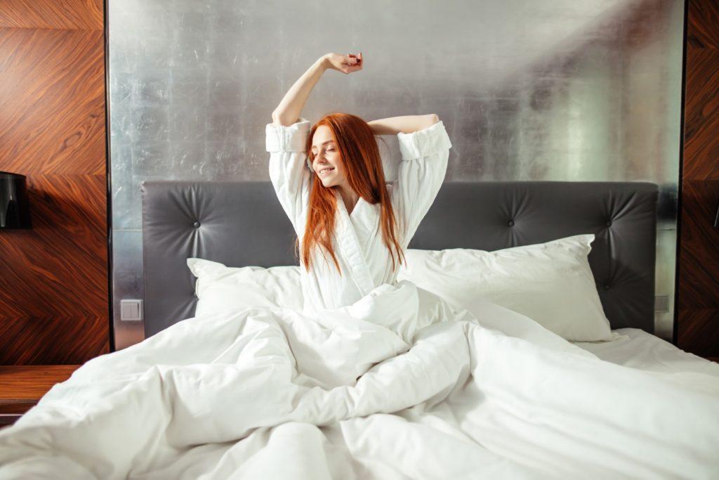 Avantages à s'étirer au lit