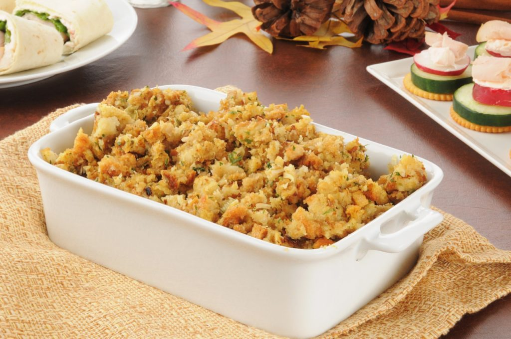 Freezing turkey stuffing