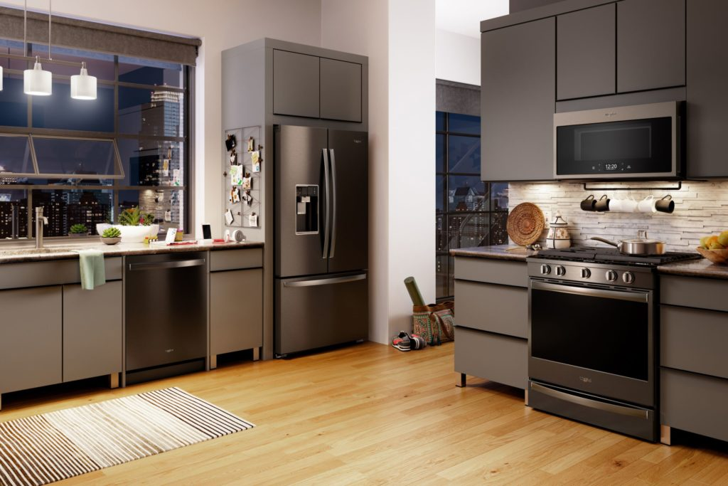 Whirlpool Black Stainless Steel Finish