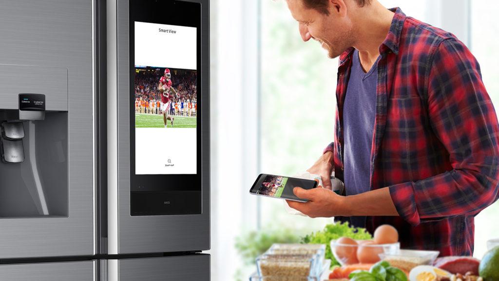 Regarder la télé sus son frigo samsung