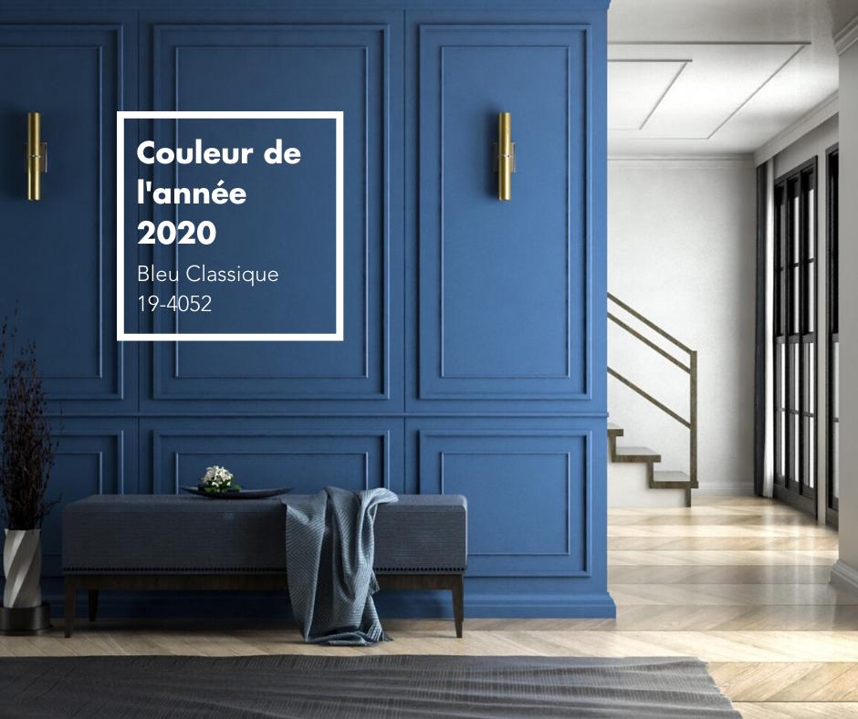 Couleur de l'année 2020 de Pantone Bleu Classique