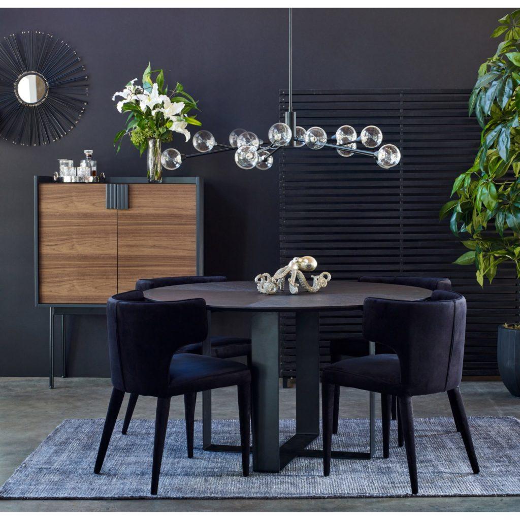 Décor de salle à manger noir