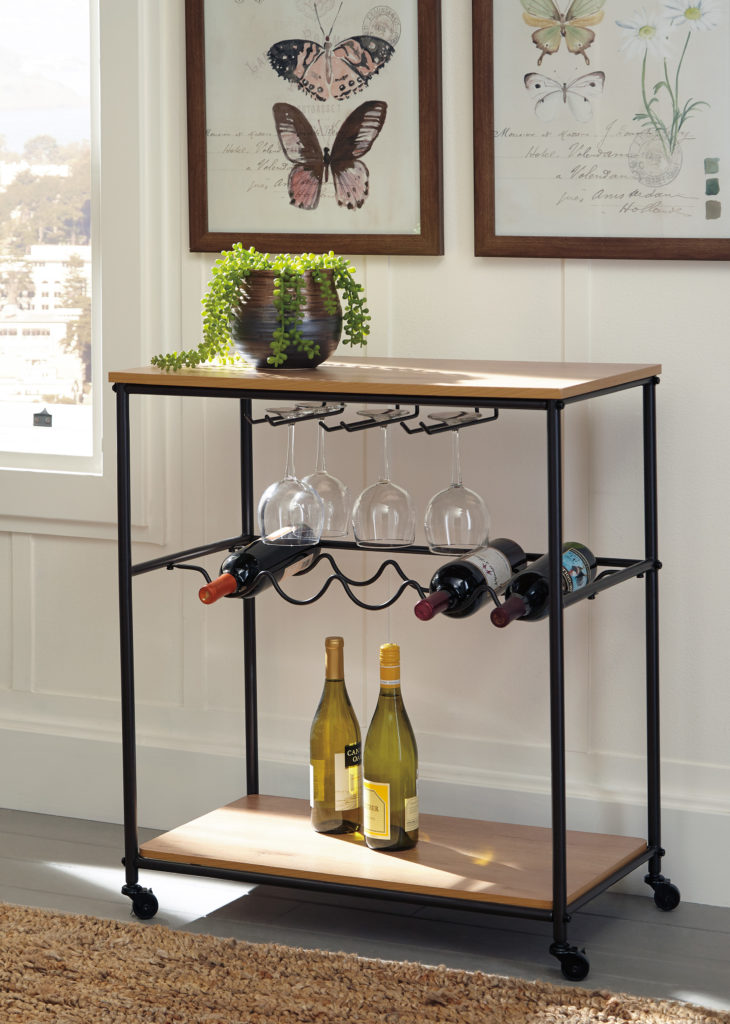 Storage idea for small space living - bar cart