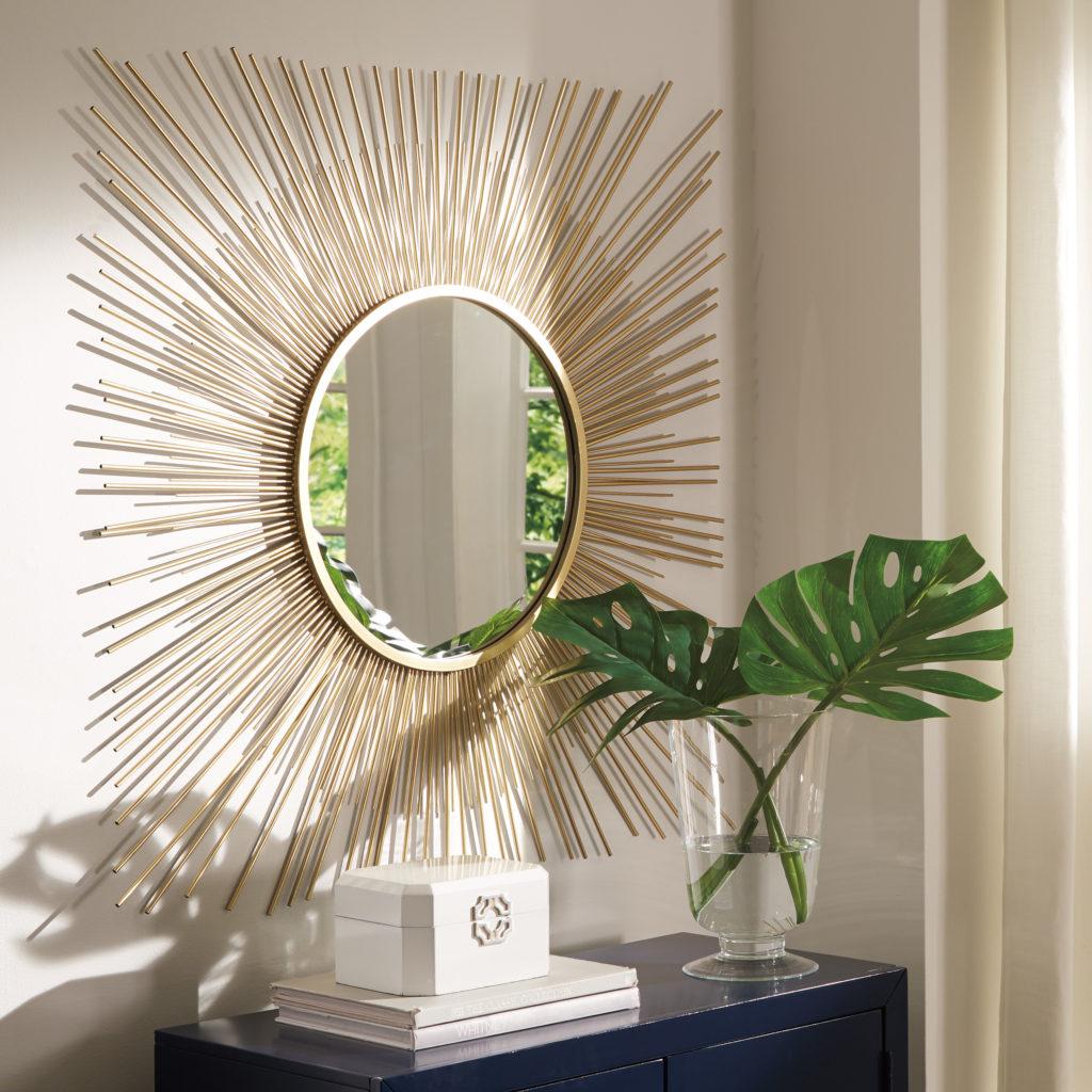 Use mirror to make a room look bigger