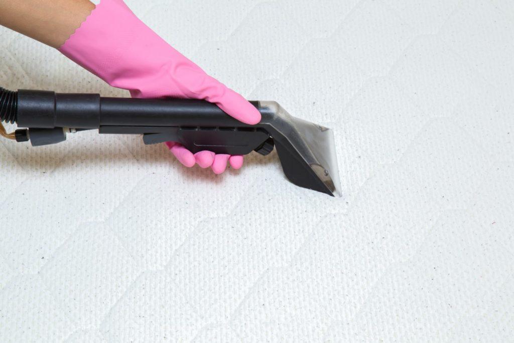 Sanitizing a mattress