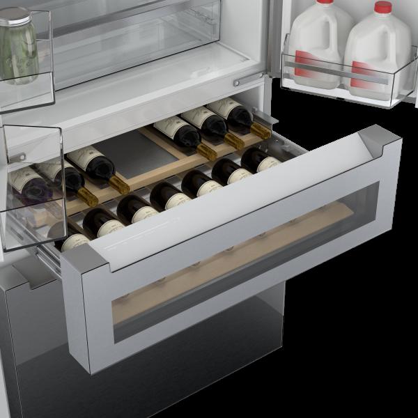 réfrigérateur avec centre de rafraîchissements Bosch